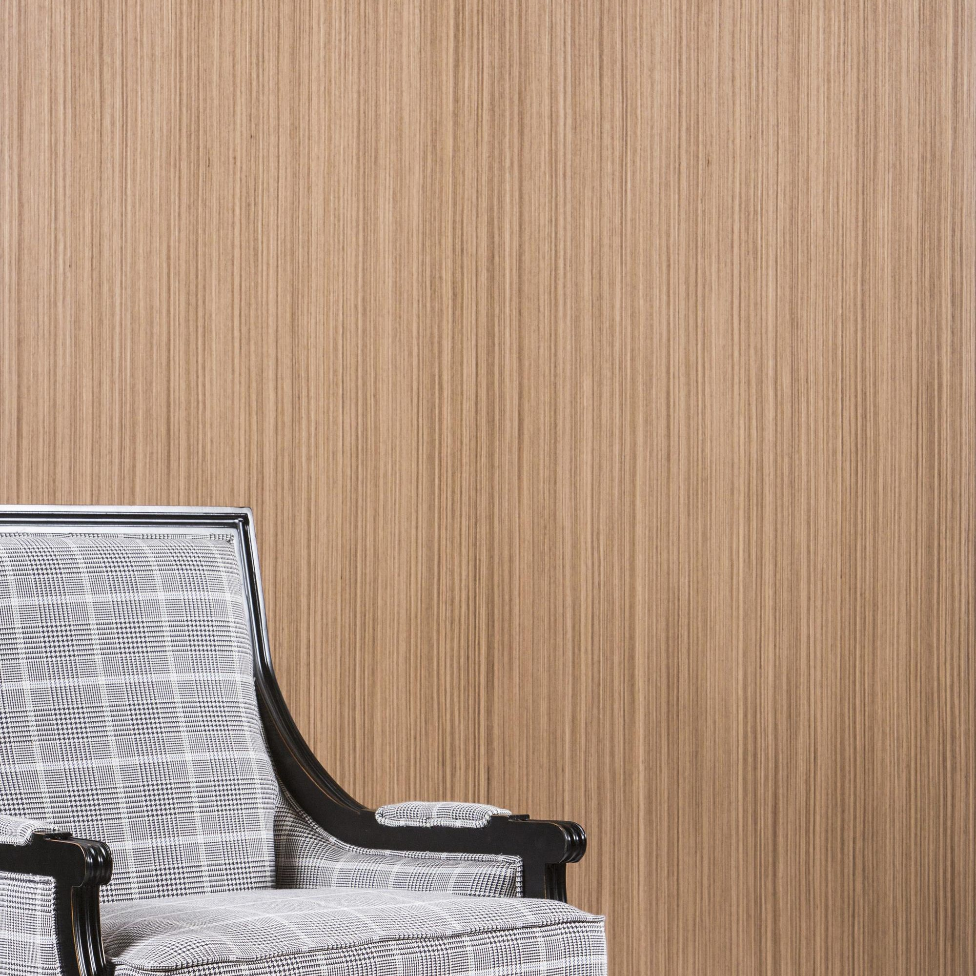 White Chair Wood Panel Wall